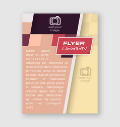 abstract business flyer template brochure or vector image