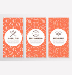 Baseball softball sport game brochure template vector