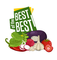 best discount poster with fresh vegetable vector image vector image