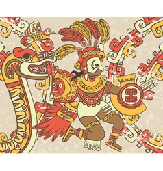 Bright background in the Aztec style vector image vector image