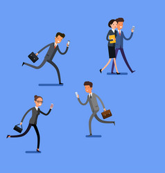 Business concept cartoon people with mobile vector