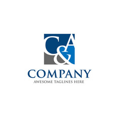 C and a letter logo design vector
