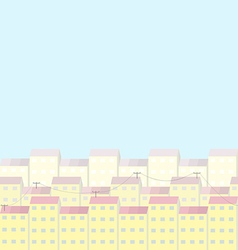 City and sunny day vector