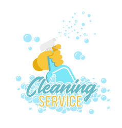 cleaning service logo label or symbol vector image