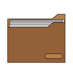 Colorful graphic folder with documents inside vector