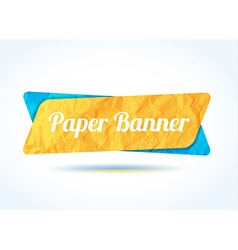 colorfull paper banner background for your text vector image