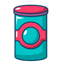 Cosmetic jar plastic icon cartoon style vector