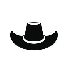 Cowboy hat black icon vector