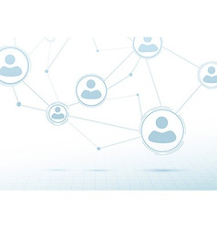 Creative networking concept - social connections vector