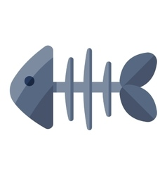 Fish bone icon vector image
