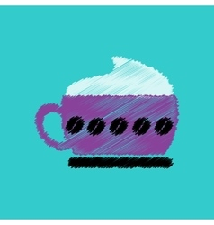 flat icon design collection cappuccino vector image vector image