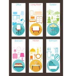 Furniture concept backdrop vector