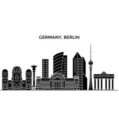 germany berlin architecture city skyline vector image