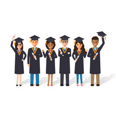 graduation students vector image vector image