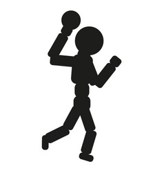 Handball player man black vector