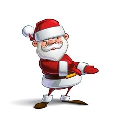 Happy Santa Showing vector image vector image