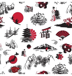 Japan background vector image vector image