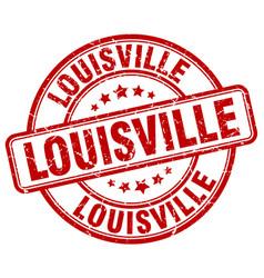 Louisville red grunge round vintage rubber stamp vector