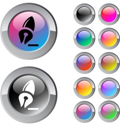 Pen multicolor round button vector image vector image
