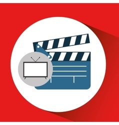 Screen tv movie clapper film vector
