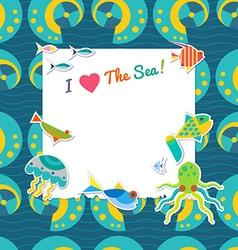 Sea background vector image vector image
