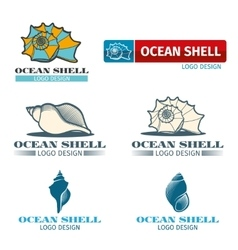 Shell design logo set vector