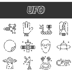 Ufo icon set vector