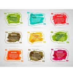 Watercolor ink splash quote blank templates vector