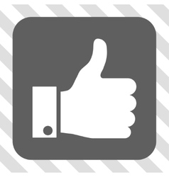 Thumb Up Rounded Square Button vector image