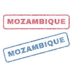 Mozambique textile stamps vector