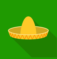 Sombrero icon in flat style isolated on white vector