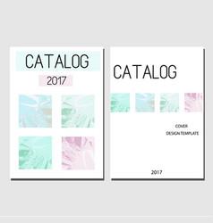 Cover design template catalog report brochure vector