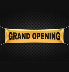 grand opening banner text background vector image