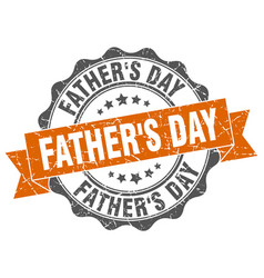 Fathers day stamp sign seal vector