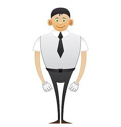 Leggy Office man vector image