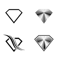 Diamond Logo Design Collection vector image