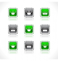 crown buttons vector image