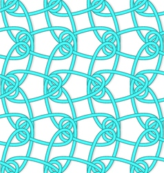 White tangled knots with loops on white vector