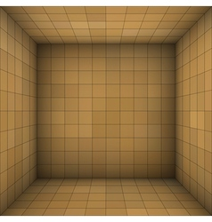 Empty futuristic room with brown beige walls vector