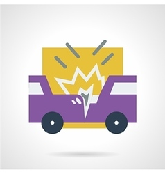 Car accident flat icon vector