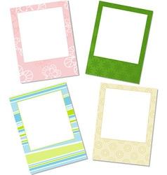 Template photo frames vector