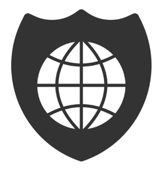 Global shield icon vector