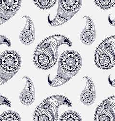 Seamless pattern henna style vector
