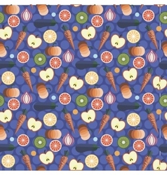 Fruits and vegetables pattern design vector
