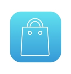 Shopping bag line icon vector