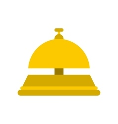 Reception bell flat icon vector image