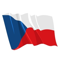 Political waving flag of czech republic vector