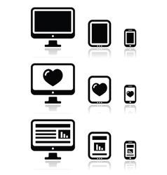 reResponsive website design - screen icons vector image