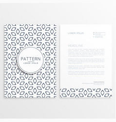 abstract pattern shape letterhead template vector image vector image