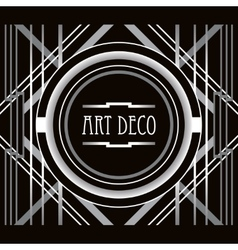 Art deco style abstract geometric frame vector
